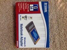 D-Link Wireless G Notebook Adaptor DWL- G630 Air Plus G 54 Wi Fi Certified