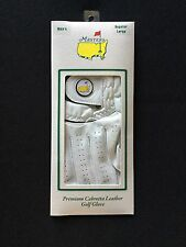 New Mens Right Hand L Official Augusta National The Masters White Golf Glove