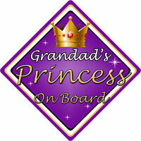 Disney Prince On Board Car Sign Baby On Board Cinderella Prince Charming DB