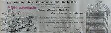 PUBLICITE MICHELIN LA VISITE DES CHAMPS DE BATAILLE GUIDES DE 1920 FRENCH AD PUB