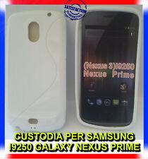 Pellicola+Custodia cover case WAVE BIANCA per Samsung Galaxy Nexus I9250 (H5)