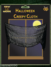 Halloween Black Creepy Cloth Material Table Door Window Decoration 228cm x 76cm