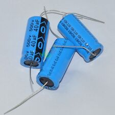 20x 500V 40uf 85C long leads Axial Electrolytic Polarized Capacitors fr tube amp