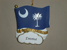 PERSONALIZED SOUTH CAROLINA STATE FLAG ORNAMENT MAGNET JEANE'S THINGS CHRISTMAS