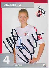 Lena Schrum  FC Köln Frauen Fußball Autogrammkarte signiert 376362