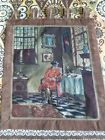 """Antique Aubusson French cross stitch  Tapestry size23""""×20""""real view Beautiful"""