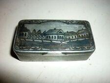 Boite priser Russe argent massif niellé C. 1840 Russian solid silver snuff box