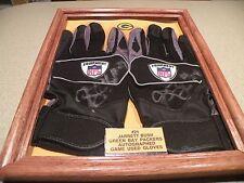 Green Bay Packers #24 JARRETT BUSH Game Used Gloves-Auto.