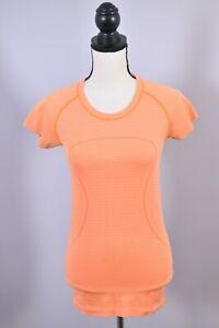 Lululemon Run Swiftly Tech SS Shirt Coral Orange Women's 6
