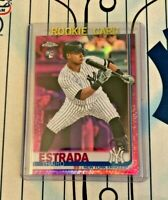 THAIRO ESTRADA RC 2019 Topps Chrome Update #US28 PINK REFRACTOR ROOKIE Yankees