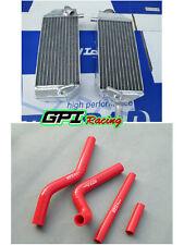 FOR Suzuki RM 125 RM125 2001-2008 2007 2006 2005 04 03 Aluminum radiator + hose