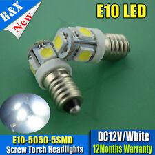 4 x BULB Lamp LED 5 SMD 5050 12V Volt White MES E10 Screw for Torch Light 100lm