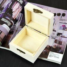 Wooden Jewelry Case Fashion Mud DIY Square Shape Storage Box Decor