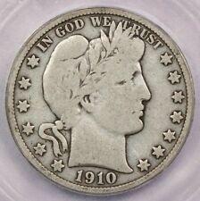 1910-S 1910 Barber Half Dollar ICG VG8