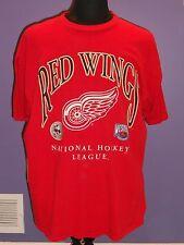 MENS OR WOMENS NHL DETROIT RED WINGS HOCKEY T- SHIRT  SZ MENS XL  EXC. CONDITION