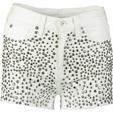 7 For All Mankind White Denim Studded Shorts 26 Waist RRP £320 New Tagged