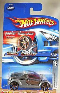 2006 Hot Wheels Faster Than Ever #66 Chrome Burnez 1/5 HONDA SPOCKET Chrome/Gray