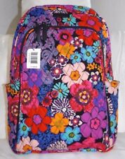 VERA BRADLEY LARGE LAPTOP BACKPACK Floral Fiesta - Padded Section - New with Tag