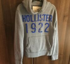 MENS HOLLISTER GREY HOODIE HOODY SIZE S SMALL