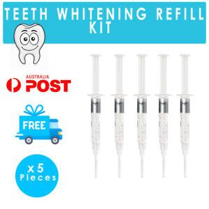 5 x 3ml  DENTAL GRADE Teeth Whitening Gel Refills - 18% Carbamide Peroxide Gels