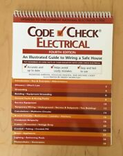 CODE CHECK ELECTRICAL Laminated FLIP BOOK Site Work NEC HSW CONSTRUCTION ADMIN