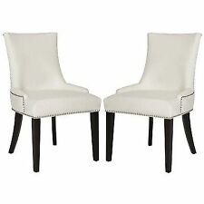 Awesome Safavieh Leather Kitchen Chairs For Sale Ebay Creativecarmelina Interior Chair Design Creativecarmelinacom