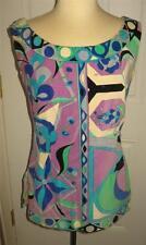 EMILIO PUCCI Mini Dress Italy 100% Cotton Velvet Feel Vintage Mod Size 12