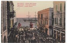 Greece; Salonica, Liberty Square, View Before WW1 Fire Of 1917 PPC, Unposted