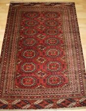 Antique Tekke Turkmen Rug, Salor Turreted Guls, Very Fine Weave, c1900