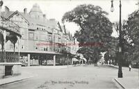 Sussex The Broadway Worthing 1907 Vintage Postcard 30.10