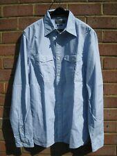 RALPH LAUREN - Superbe chemise lignée bleu ciel, taille M slim fit - NEUVE