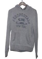 Aeropostale  Mens Grey Pullover Hoodie Sweatshirt Hand Warming Pocket Sz Small