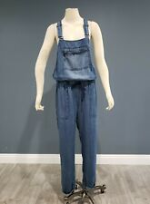 LOVESTITCH blue chambray soft baggy jumpsuit overalls sz M