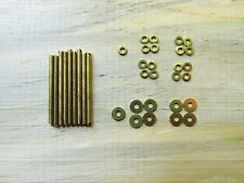 Straight Razor Repair Kit 4 Sets of BRASS  Pins Washers & Pivot Washers SHPG 5¢