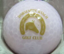 (1) Horseshoe Ranch Golf Club Golf Course Logo Golf Ball (Pink)
