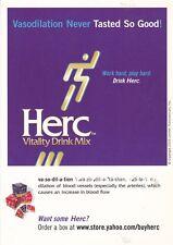 HERC VITALITY DRINK MIX UNUSED ADVERTISING COLOUR POSTCARD