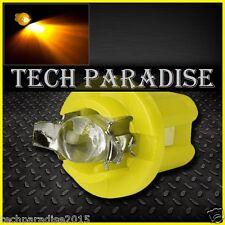 12x Ampoule B8.5D BX8.5D BAX10D ( T5 sur culot ) LED Bulb Jaune Yellow Neo Wedge