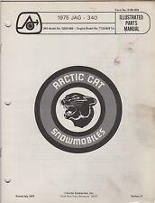 1975 ARCTIC CAT SNOWMOBILE JAG 340 P/N 0185-059 PARTS MANUAL (057)
