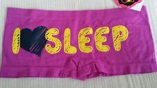 Purple Boyshorts with I♡SLEEP on the back Size Large 11885