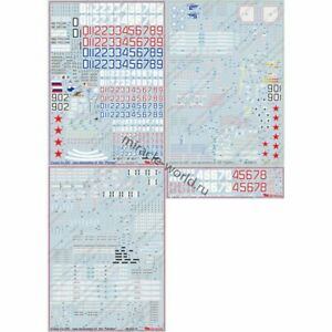 Begemot Decals 48-039 Su-35S /16 marking options +Syria+technical+weapons/ 1/48