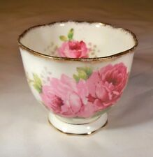 ROYAL ALBERT BONE CHINA ENGLAND AMERICAN BEAUTY ROSE HANDLELESS CUP or  CUSTARD!