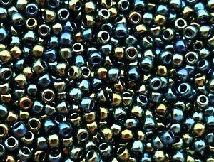 TOHO 8/0 Rocailles 3mm 10g 20g Metallic irisierend Grün Bronze Braun Code: 84