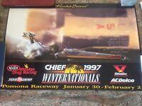 Vintage 1997 NHRA Winternationals Event Poster!! Never Displayed!