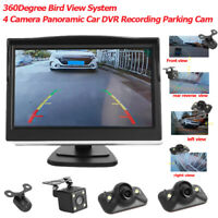 12V 4 Camera Panoramic Car DVR Recording Parking Front+Rear+Left+Right View Cam