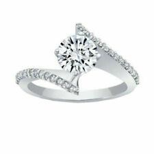 14k White Gold 1.65 Ct Halo Round Cut Diamond Engagement Ring