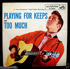 ELVIS PRESLEY-Playing For Keeps+Too Much-Picture Sleeve-RCA VICTOR #47-6800