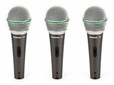 Samson Q6 Dynamic Supercardioid Handheld Vocal Microphone (3-Pack)
