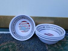 NEW SET OF 4 MELAMINE Melted Butter Bowls Fresh Catch Blue Crabs