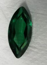 5 KT Taglio Marquise smeraldo nuovo vintage originale Corundum FATTO IN SVIZZERA