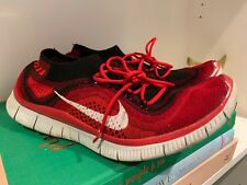 low priced 378a8 3ad03 Men s Nike Free Flyknit 5.0 Running Shoes 615805-616 Size 9 Red Black